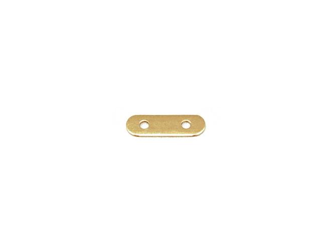 ビーズ天然石14KGF スペーサーバー 2穴 5mm間隔【5コ販売 230円】とパワーストーン