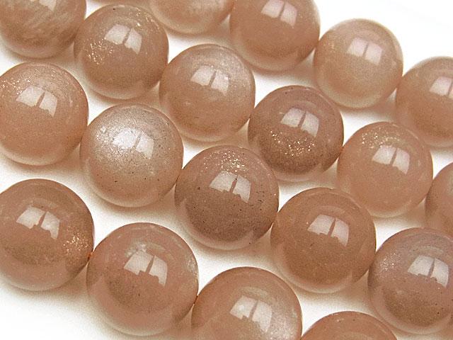 天然石【連販売】オレンジムーンストーン 丸玉 12mm【半連 2,640円〜】ビーズとパワーストーン