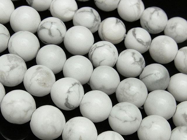 天然石【連販売】ハウライト 丸玉 8mm[2mm穴]【1連 800円】ビーズとパワーストーン