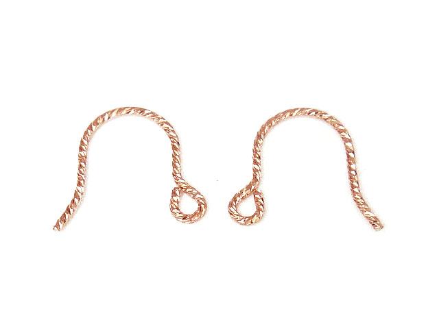 ビーズ天然石14KGF ピンクゴールドカラー ピアスフック グリッター typeAE【1ペア販売 200円】とパワーストーン