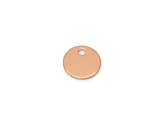ビーズ天然石14KGF ピンクゴールドカラー チャーム コイン【1コ販売 250円】とパワーストーン