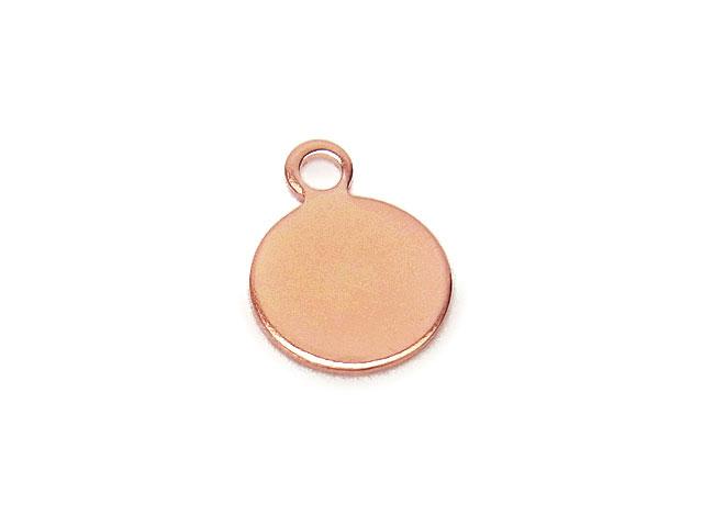 ビーズ天然石14KGF ピンクゴールドカラー チャーム コイン No.2【1コ販売 350円】とパワーストーン