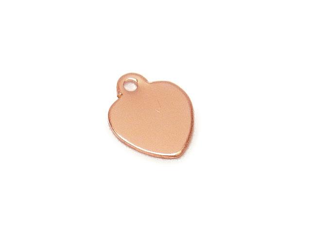 ビーズ天然石14KGF ピンクゴールドカラー チャーム ハート No.2【1コ販売 250円】とパワーストーン
