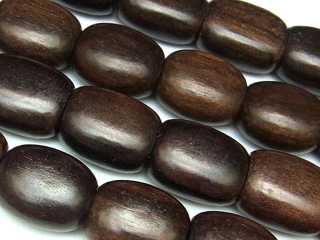 天然石【連販売】[ウッドビーズ]エボニー ナゲット 20×17×12mm【1連 600円】ビーズとパワーストーン