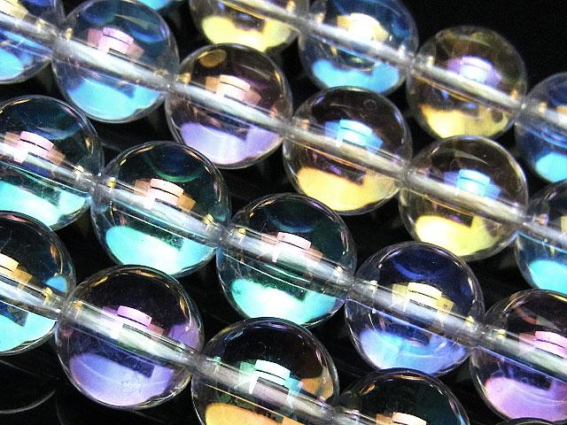 天然石【連販売】レインボーオーラ 丸玉 12mm【半連 940円〜】ビーズとパワーストーン