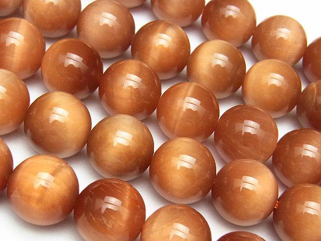 天然石【連販売】オレンジタイガーアイ 丸玉 10mm【半連 2,200円〜】ビーズとパワーストーン