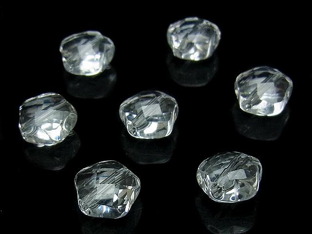 ビーズ天然石【粒販売】天然水晶 クリスタルクォーツ スターカット 8×5mm【4粒販売 480円】とパワーストーン