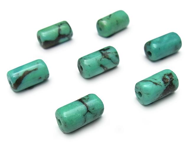 ビーズ天然石【粒販売】ターコイズ チューブ 9×5mm【6粒販売 480円】とパワーストーン