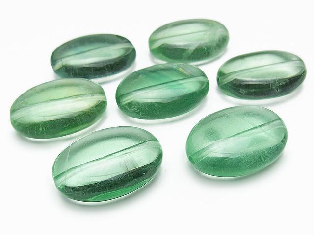 天然石【粒販売】グリーンフローライト オーバル 18×13×7mm【4粒販売 680円】ビーズとパワーストーン