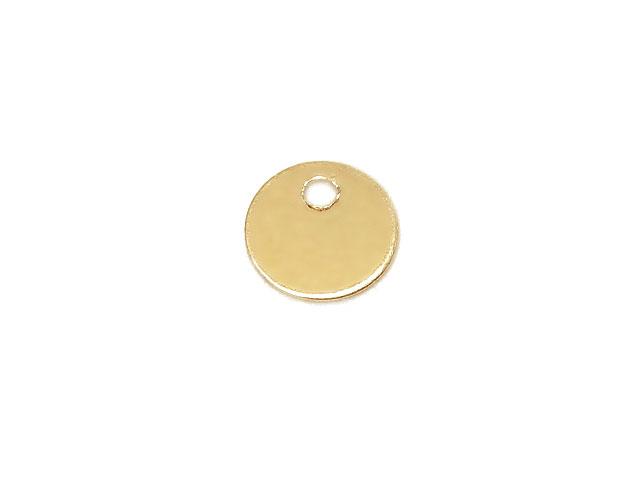 天然石ビーズ14KGF チャーム コインプレート 6mm【2コ販売 300円】とパワーストーン