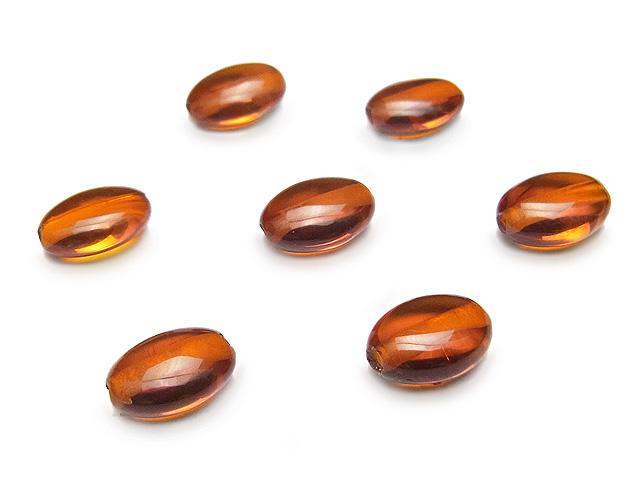 天然石【粒販売】バルティックアンバー(琥珀) オーバル 8×6×4mm【4粒販売 720円】ビーズとパワーストーン