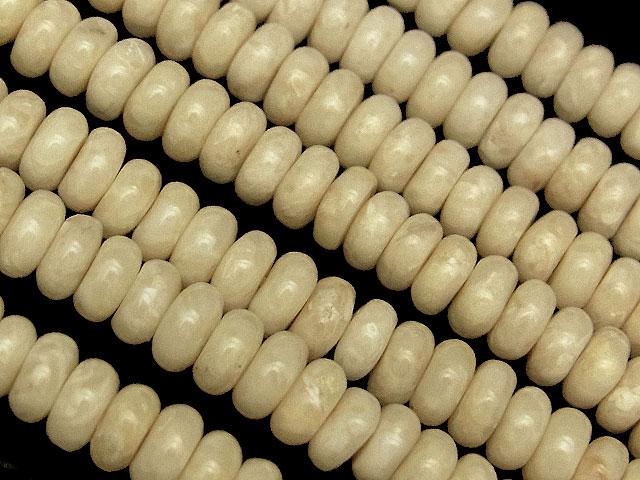 天然石【連販売】リバーストーン ロンデル 4×2mm【1連 700円】ビーズとパワーストーン