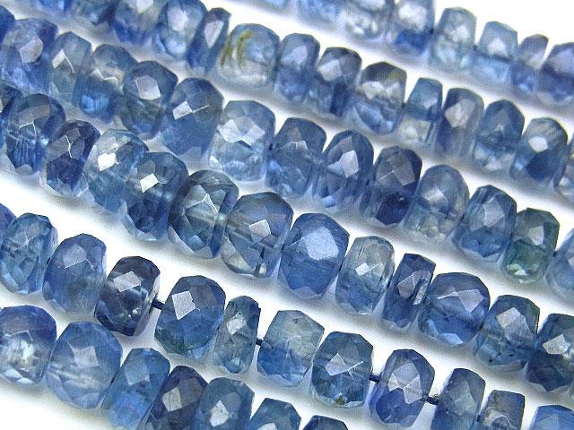 天然石【連販売】カイヤナイト グラデーション ボタンカット 3〜5mm【半連 3,190円〜】ビーズとパワーストーン