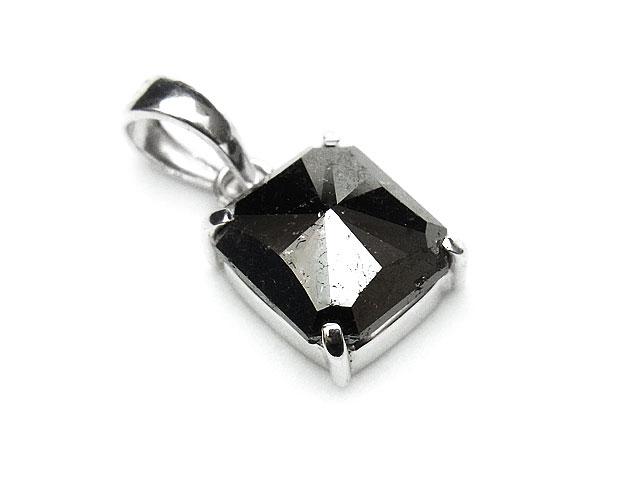 天然石ブラックダイヤモンド ペンダントトップ No.1【1点もの 29,800円】ビーズとパワーストーン