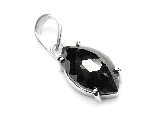 天然石ブラックダイヤモンド ペンダントトップ No.5【1点もの 27,800円】ビーズとパワーストーン