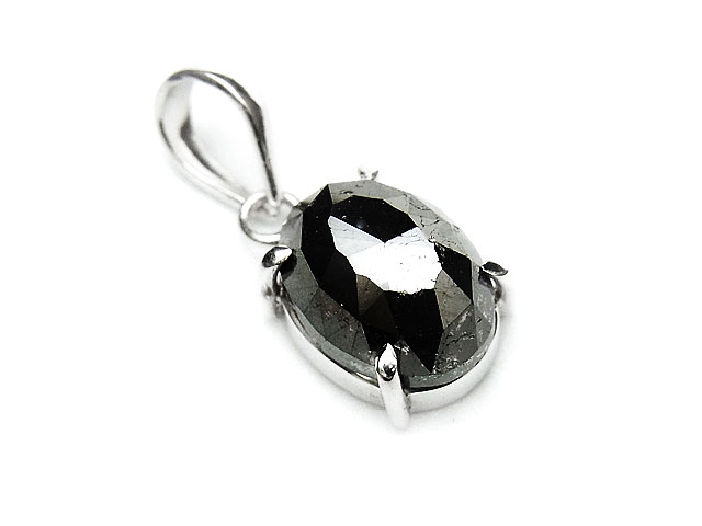 天然石ブラックダイヤモンド ペンダントトップ No.8【1点もの 27,800円】ビーズとパワーストーン