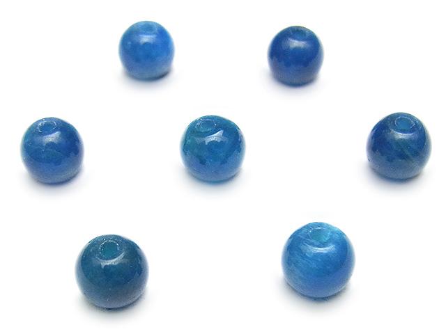 天然石【粒販売】ブルーアパタイト 丸玉 6mm【5粒販売 480円】ビーズとパワーストーン