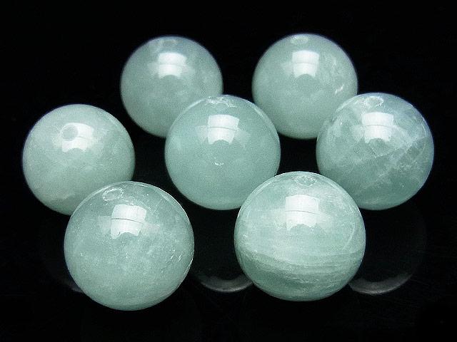 天然石【粒販売】アクアマリン 丸玉 12mm【2粒販売 580円】ビーズとパワーストーン