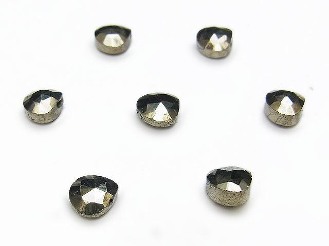 天然石【粒販売】ゴールデンパイライト マロンカット 6mm【8粒販売 380円】ビーズとパワーストーン