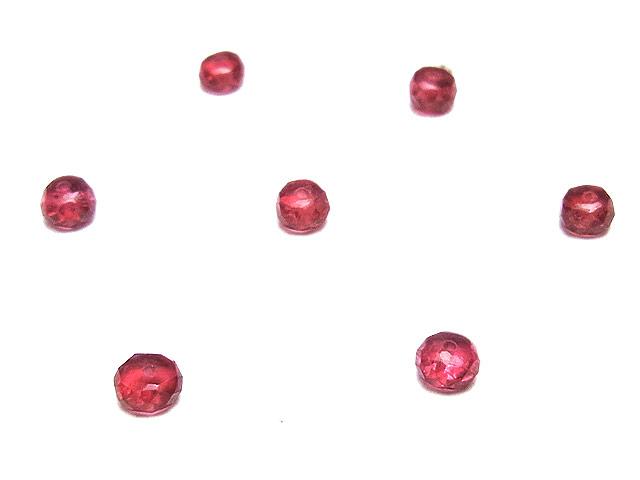ビーズ天然石【粒販売】レッドスピネル ボタンカット 3mm【5粒販売 1,080円】とパワーストーン
