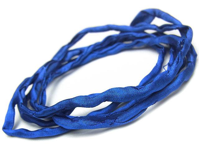 ビーズ天然石シルクコード ブルー【1m販売 250円】とパワーストーン