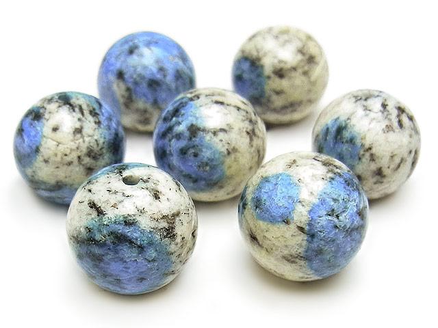 天然石【粒販売】K2アズライト 丸玉 12mm【2粒販売 1,080円】ビーズとパワーストーン