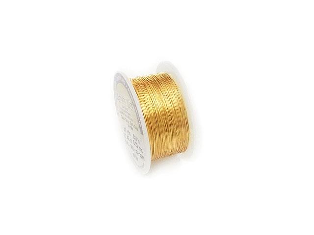 ビーズ天然石アーティスティックワイヤー ゴールド 30GA(0.25mm)[サイズ小]【27m販売 800円】とパワーストーン