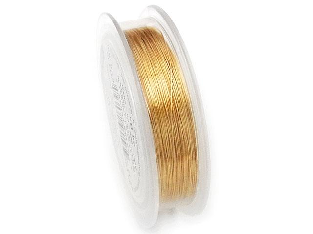 ビーズ天然石アーティスティックワイヤー ゴールド 26GA(0.40mm)【27m販売 1,600円】とパワーストーン