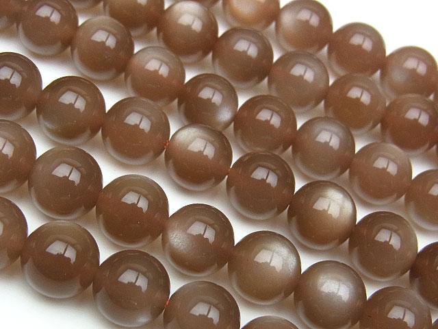 天然石【連販売】ブラウンムーンストーン 丸玉 8mm【半連 3,190円〜】ビーズとパワーストーン
