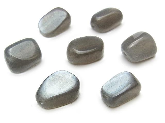 天然石【粒販売】ブラックムーンストーン ナゲット 8〜12mm【6粒販売 450円】ビーズとパワーストーン