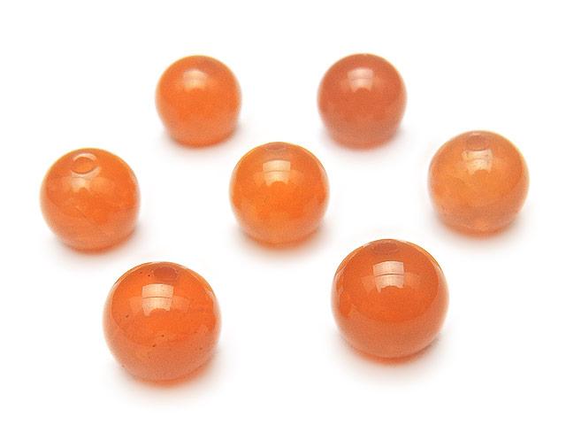 天然石【粒販売】オレンジカルセドニー 丸玉 8mm【5粒販売 440円】ビーズとパワーストーン