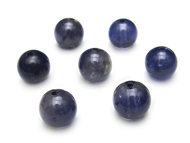 天然石【粒販売】アイオライト 丸玉 8mm【3粒販売 1,190円】ビーズとパワーストーン