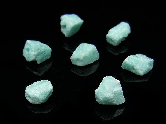 天然石【粒販売】アマゾナイト ラフロック 6〜9mm【8粒販売 400円】ビーズとパワーストーン