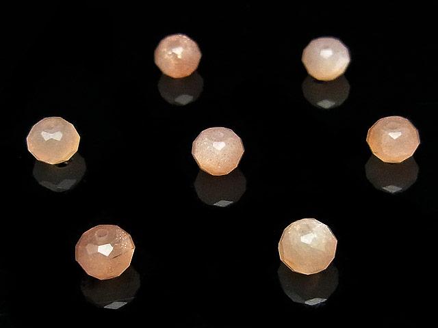天然石【粒販売】オレンジムーンストーン ボタンカット 5×3mm【15粒販売 500円】ビーズとパワーストーン