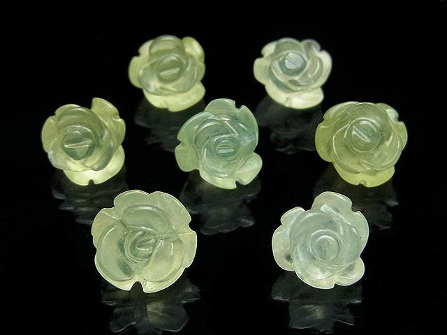 天然石【粒販売】プレナイト 薔薇彫刻 10mm【3粒販売 810円】ビーズとパワーストーン