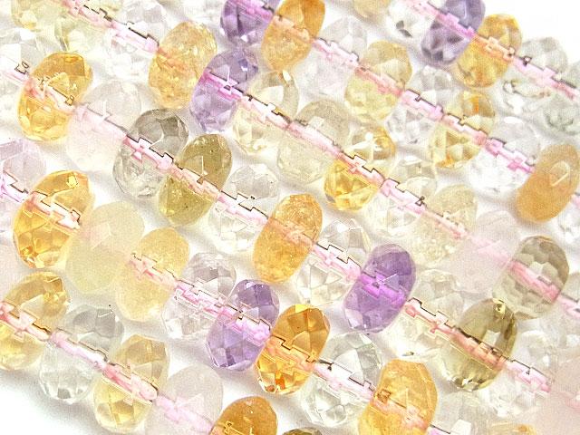 天然石【連販売】ミックスストーン ボタンカット 8×4mm【半連 1,100円〜】ビーズとパワーストーン
