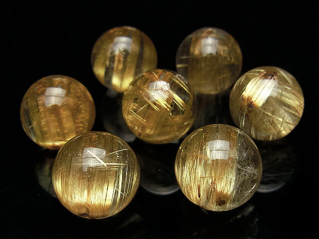 天然石【粒販売】ルチルクォーツ 丸玉 12mm【1粒販売 3,060円】ビーズとパワーストーン