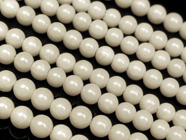 天然石【連販売】ホワイトコーラル(白珊瑚) 丸玉 4mm【1連 500円】ビーズとパワーストーン
