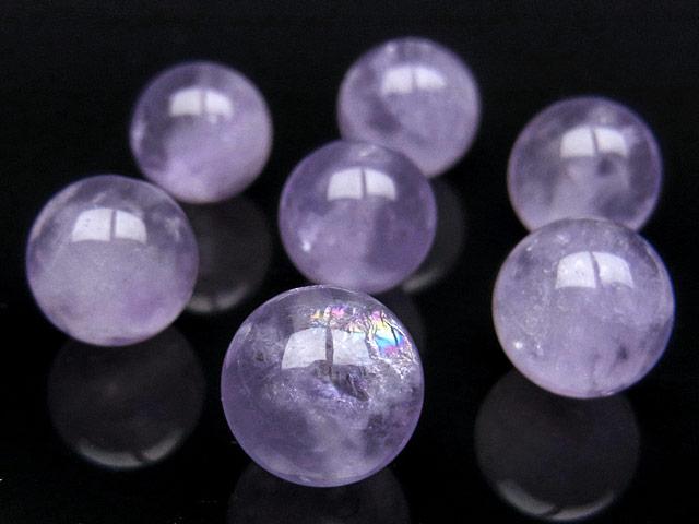 天然石【粒販売】ラベンダーアメジスト 丸玉 10mm【4粒販売 320円】ビーズとパワーストーン