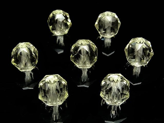 天然石【粒販売】レモンクォーツ スターカット 丸玉 8mm[プレミアムカット]【3粒販売 570円】ビーズとパワーストーン