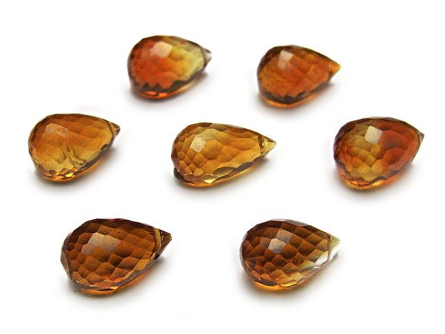 天然石【粒販売】ブランデーシトリン ドロップカット 10〜11mm【2粒販売 800円】ビーズとパワーストーン