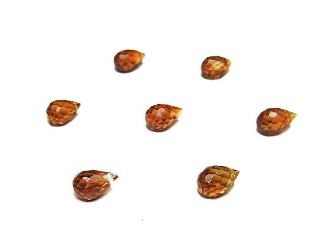 ビーズ天然石【粒販売】ブランデーシトリン ドロップカット 5〜6mm【8粒販売 580円】とパワーストーン