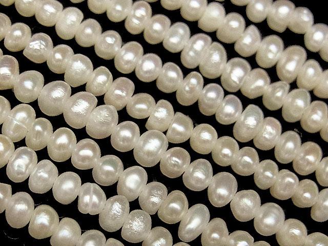 天然石【連販売】淡水真珠 ホワイトケシパール ポテト 2〜3mm【1連 800円】ビーズとパワーストーン