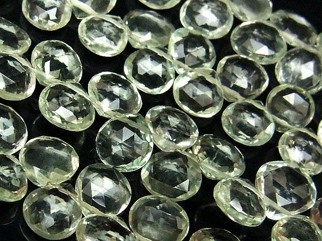 天然石【連販売】グリーンアメジスト マロンカット 5〜7mm【1連 3,800円】ビーズとパワーストーン
