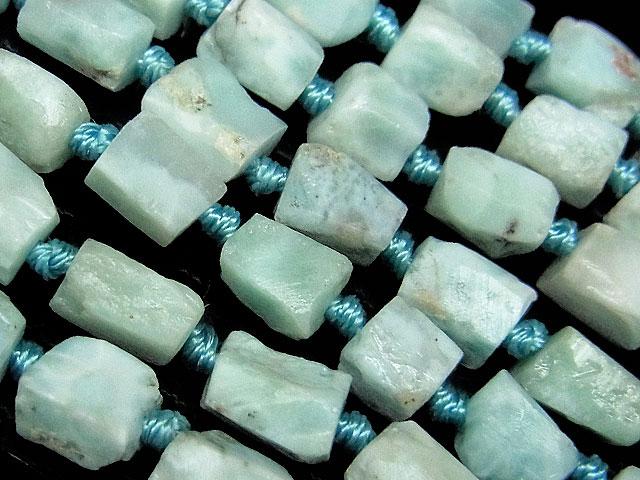 天然石【連販売】ラリマー ラフロック 5〜10mm【1連 1,900円】ビーズとパワーストーン