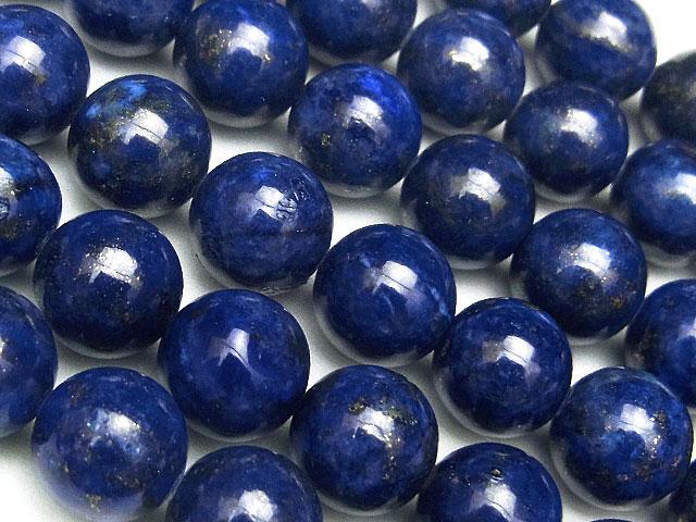 天然石【連販売】ラピスラズリ 丸玉 8mm【1連 1,500円】ビーズとパワーストーン
