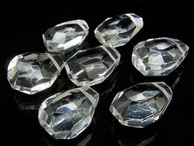 天然石【粒販売】天然水晶 クリスタルクォーツ ナゲットカット 17〜20mm[クレオ穴]【4粒販売 690円】ビーズとパワーストーン