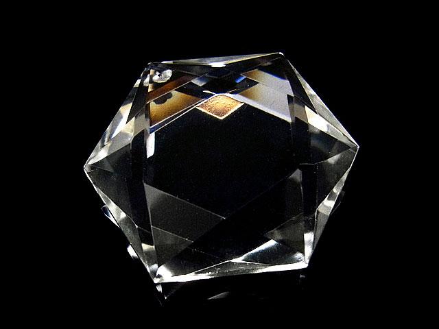 天然石天然水晶 クリスタルクォーツ 六芒星型 ペンダントトップ 30mm【1コ販売 2,000円】ビーズとパワーストーン