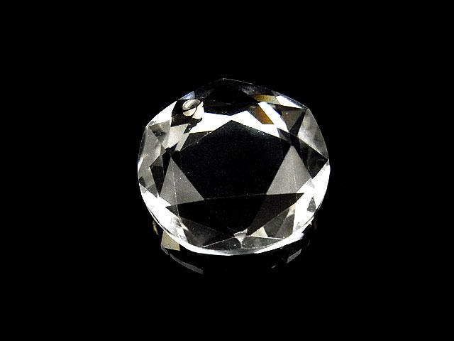 天然石天然水晶 クリスタルクォーツ 星型正多角型 ペンダントトップ 25mm【1コ販売 2,500円】ビーズとパワーストーン