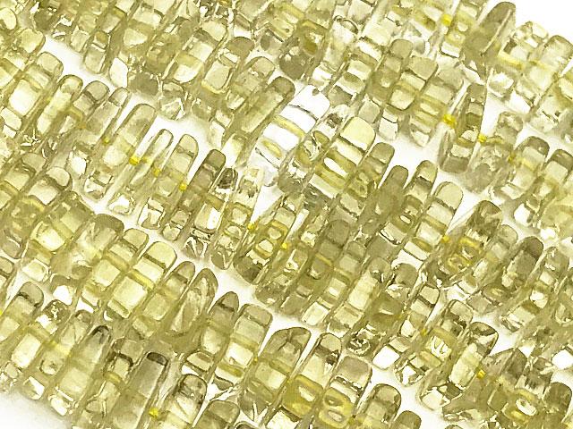 天然石ビーズ【連販売】レモンクォーツ スクエアチップ 4〜5mm【1連 1,500円】とパワーストーン
